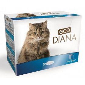 Eco Diana 100gx kaps.cat rybí kousky v omáčce