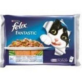 Felix 100gx4ks kaps.losos s cuketou+pstruh s fazolkami v želé