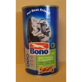 Bono 1250g adult drůbeží+zelenina 1ks/6ks dog
