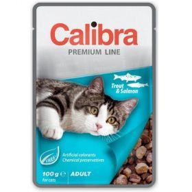 Calibra cat 100g kapsa premium trout+salmon