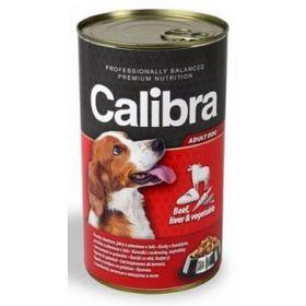 Calibra dog 1240g hovězí+játra+zelenina v želé