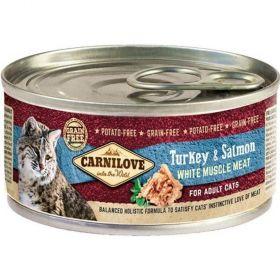 Carnilove 100g White meat Turkey+Salmon cats konz.
