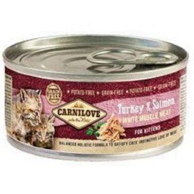 Carnilove 100g White meatTurkey+Salmon for Kitttens konz.