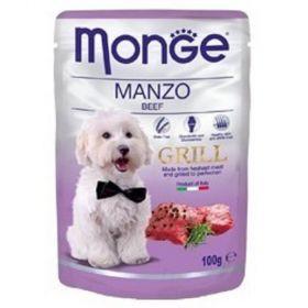 Monge grill 100g dog kaps.hovězí 1ks