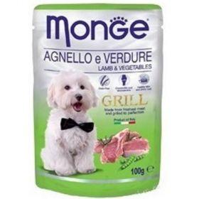Monge grill 100g dog kaps.jehněčí se zeleninou 1ks