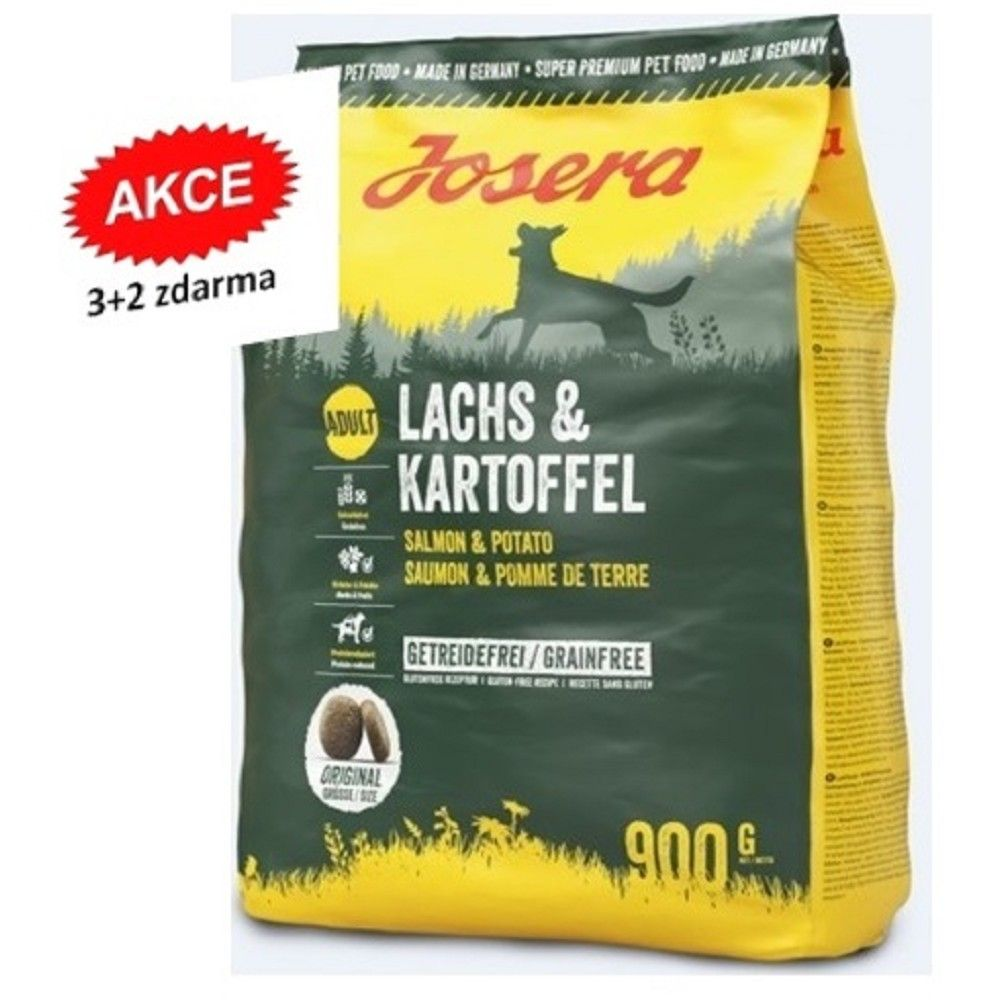 Josera 5x0,9kg Lachs/Kartoffel 3+2 zdarma