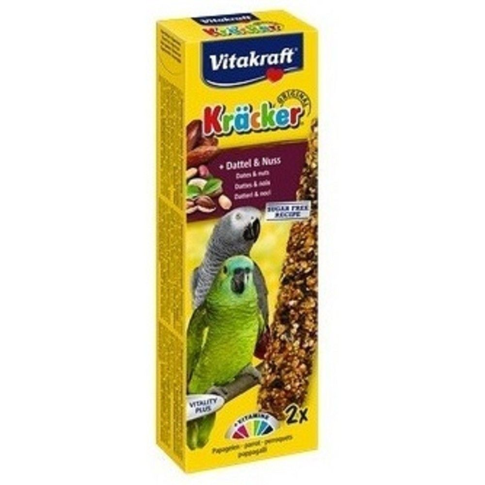 Kräcker tyč. velký papoušek datle+ořech 2ks/bal. Ostatní