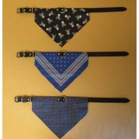 Obojek KZ 1,8x45cm bavl.šátek-modrý