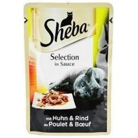 Sheba Selection in Sauce 85g s kuřecím a hovězím masem ve šťávě kaps. 94