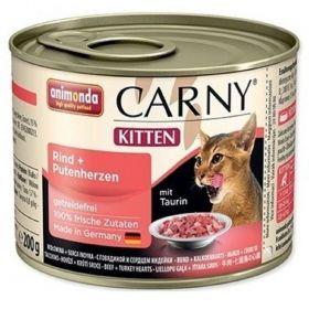 Animonda 200g Carny kitten hovězí+krůtí srdce
