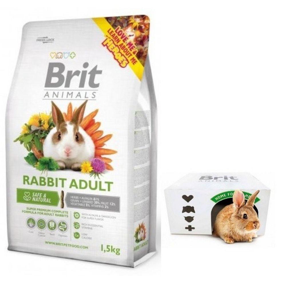 Brit animals 1,5kg králík adult complete immune stick