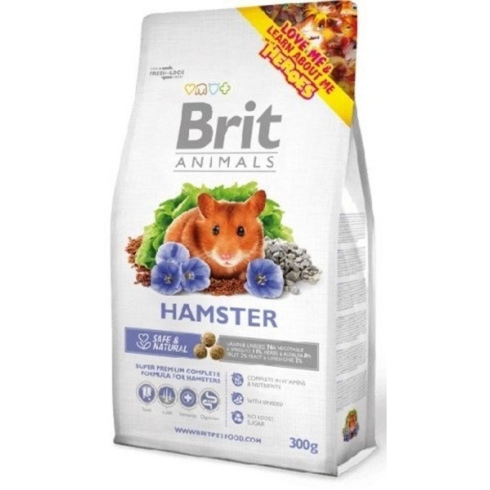 Brit animals 300g křeček adult complete