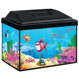Akvárijní sada  Splash 30cm/12 l s LED 3W - černý kryt