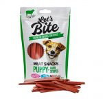 Brit Let´s Bite 80g Meat Snacks Puppy Lamb Stripes