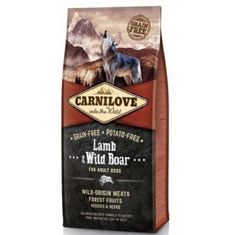 Carnilove 12kg Adult Lamb+Wild Boar