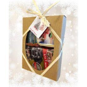 Dárková vánoční krabička s pamlsky pro psy_3