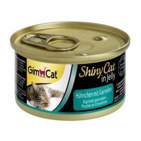 Shiny cat 70g kuře+kreveta