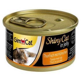Shiny cat 70g tuňák+kuře