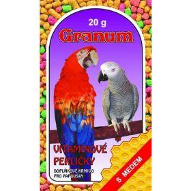 Vit.perle 20g papoušek/Granum s medem