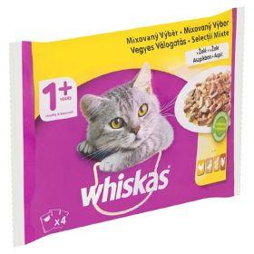 Whiskas 100gx 4ks kaps.mixový výběr v želé