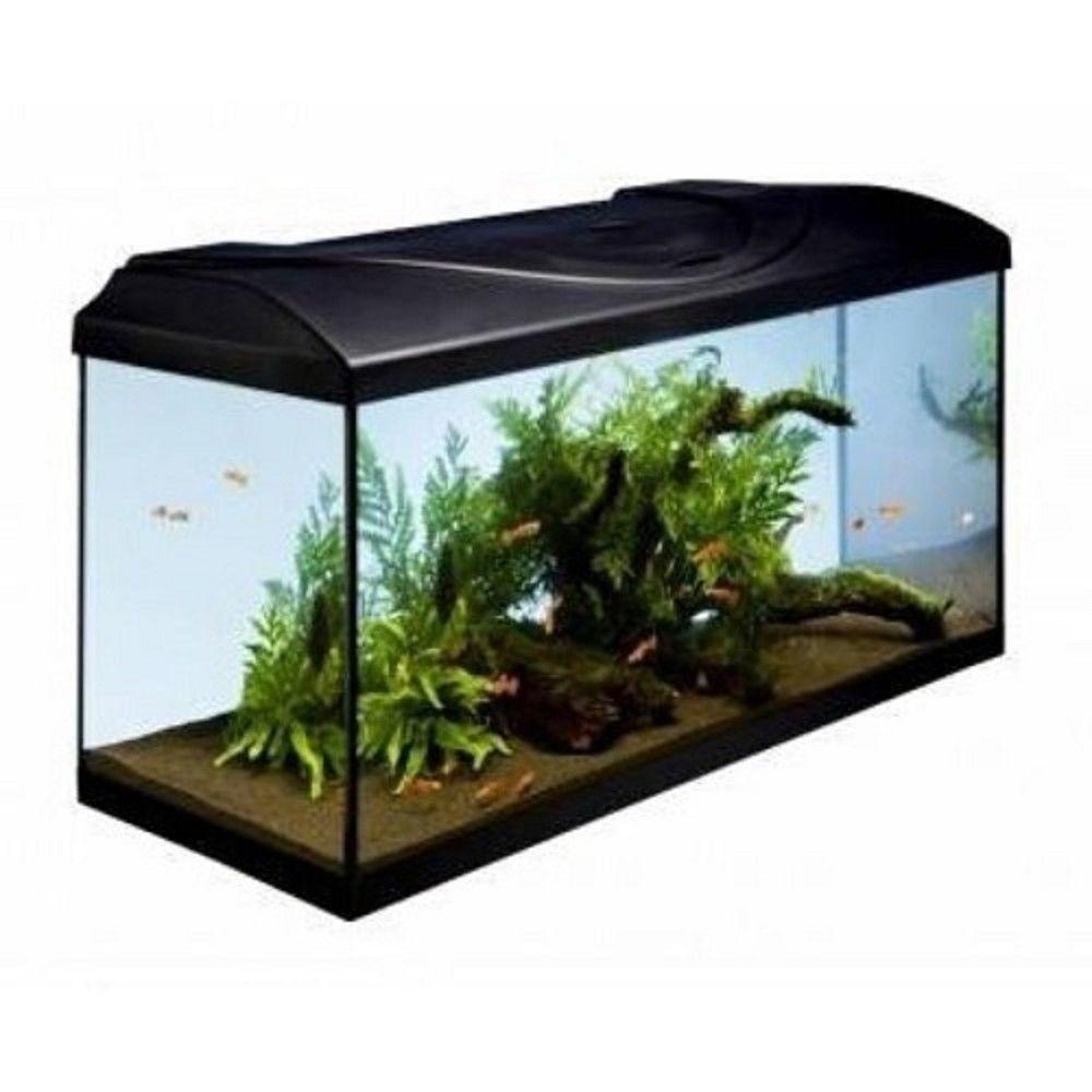 Akvárijní sada 60cm/54 l s LED osv.10W - černý kryt Ostatní