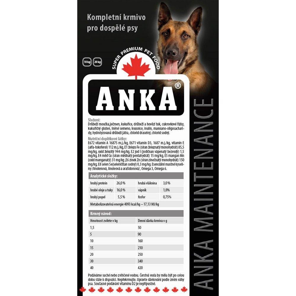 Anka 20kg Adult maintenance dog