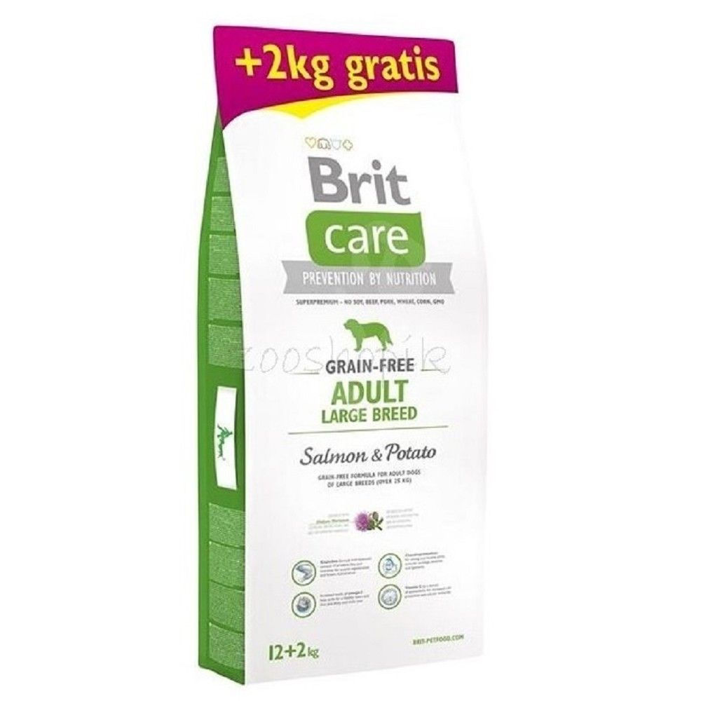 Brit care 12+2kg Adult LB Salmon & Potato grain-free
