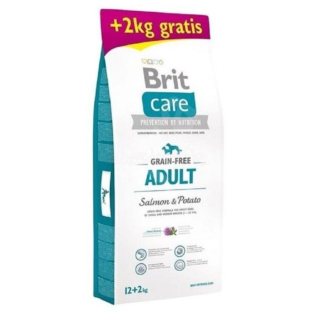 Brit care 12+2kg Adult Salmon & Potato grain-free
