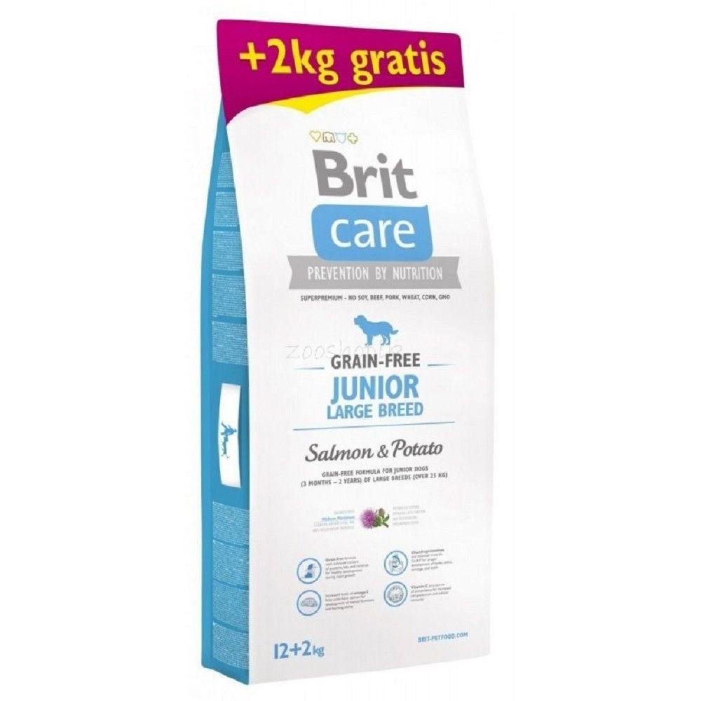 Brit care 12+2kg Junior LB Salmon & Potato grain-free