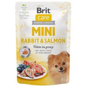 Brit Care Mini Rabbit&Salmon fillets in gravy 85g