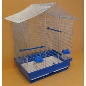 Klec papoušek pozink stanová střecha 45x33x63cm
