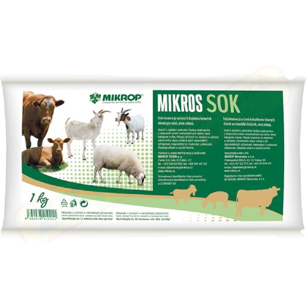 Mikros 1kg SOK pro skot,ovce a kozy -sáček Ostatní
