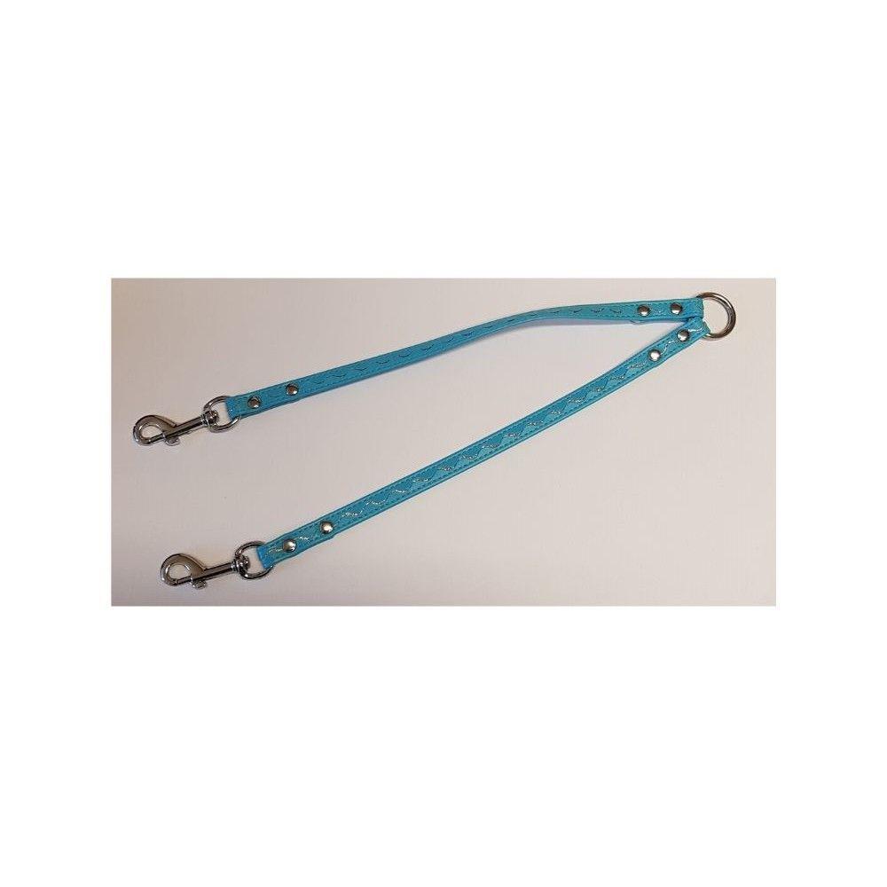 Rozdvojka koženka 12x30cm stříbrné vlnky - modrá Ostatní