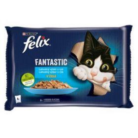 Felix Fantastic 85gx4ks kaps. losos+cuketa/pstruh+zel.fazolka