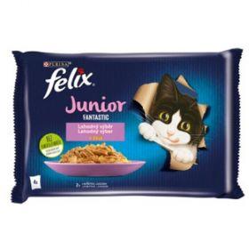 Felix Fantastic 85gx4ks kaps.JUNIOR kuře+losos v želé