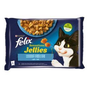 Felix Sensations 85gx4ks kaps. losos+treska v želé