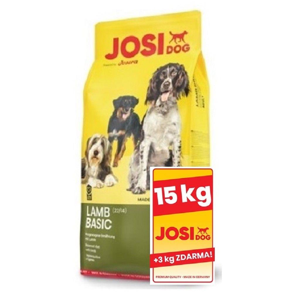 JosiDog 15+3kg Lamb Basic (950917 A) Josera