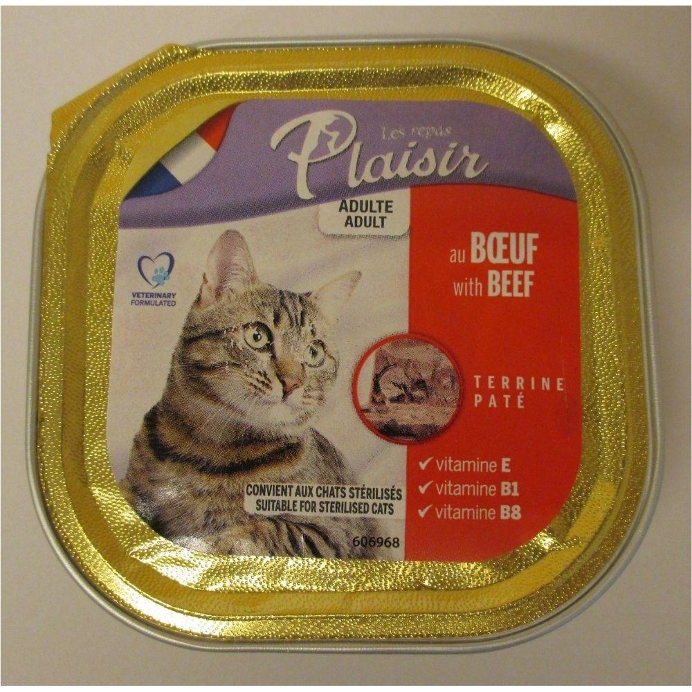 Plaisir cat 100g hovězí vanička/32ks Ostatní