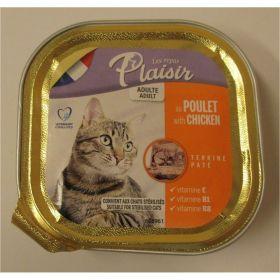 Plaisir cat 100g kuřecí vanička/32ks